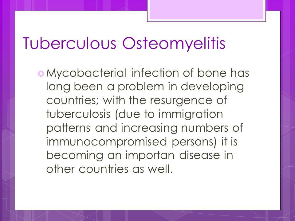 Tuberculous Osteomyelitis