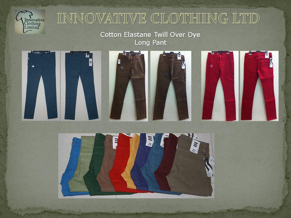 Cotton Elastane Twill Over Dye Long Pant