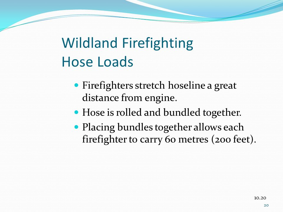 Wildland Firefighting Hose Loads