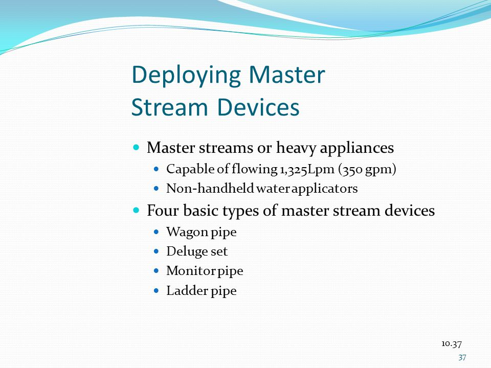 Deploying Master Stream Devices