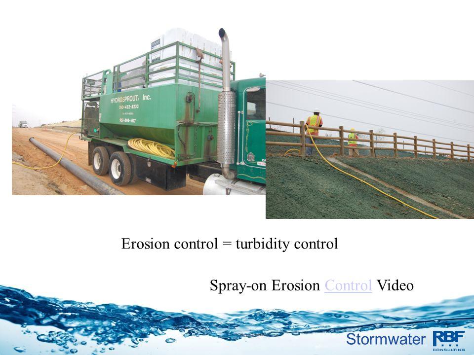 Erosion control = turbidity control