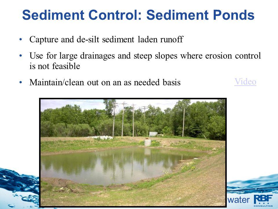 Sediment Control: Sediment Ponds