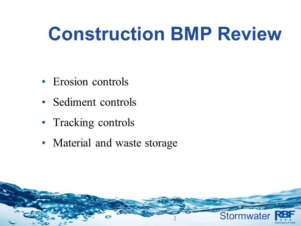 Construction BMP Review