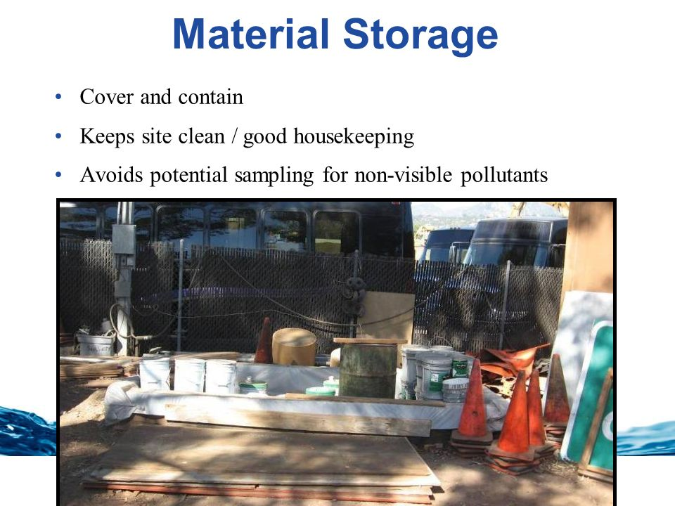 Material Storage Cover and contain