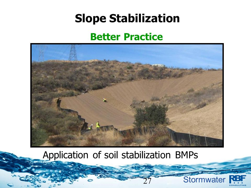 Application of soil stabilization BMPs