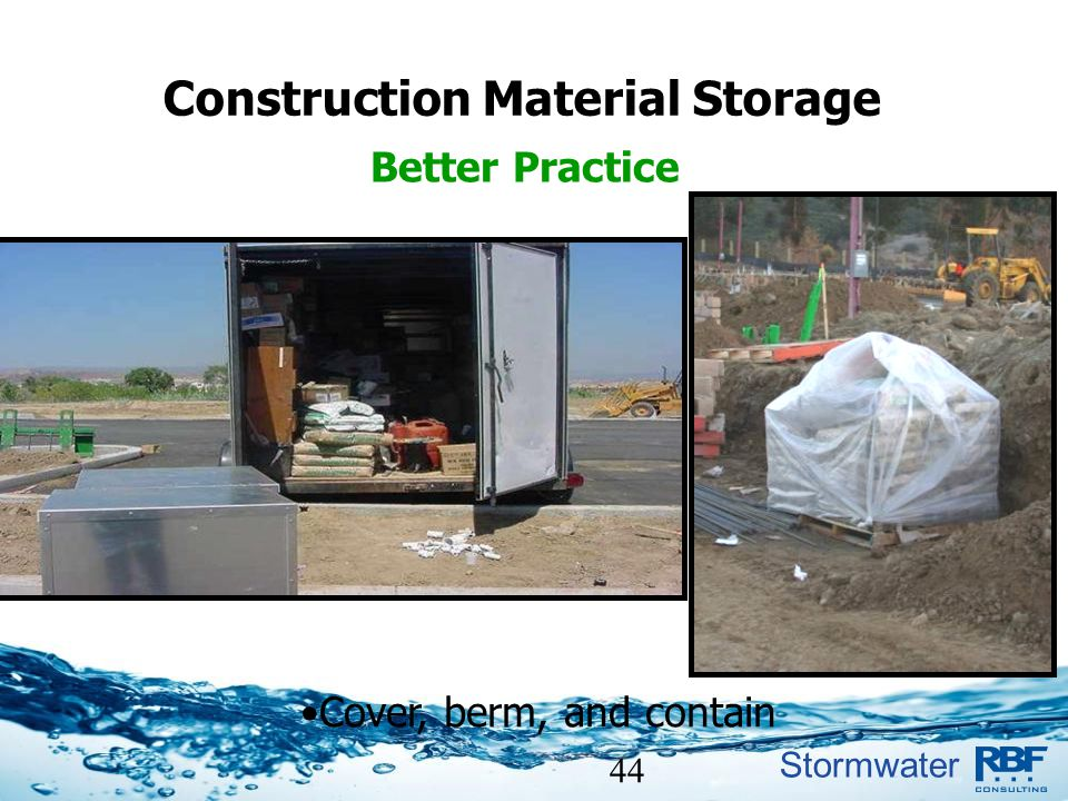 Construction Material Storage