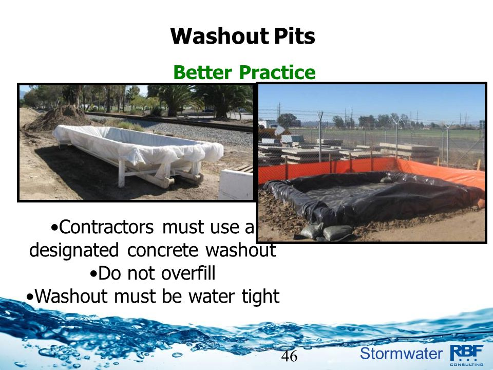 Washout Pits Better Practice