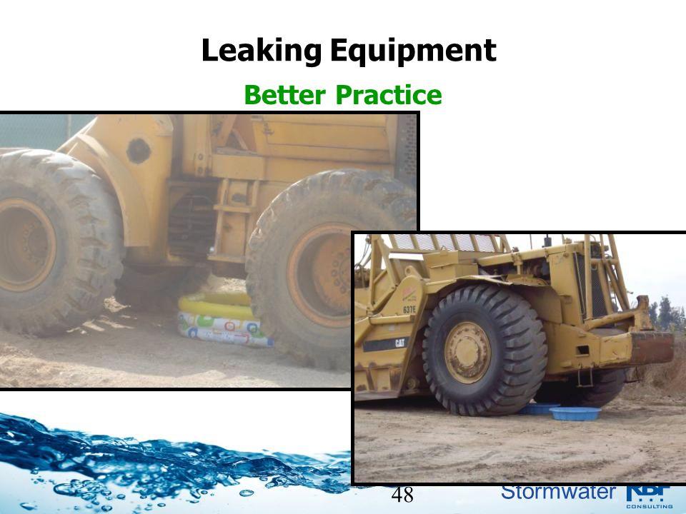 Leaking Equipment Better Practice 48