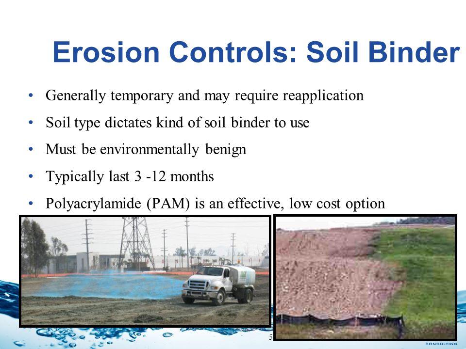Erosion Controls: Soil Binder
