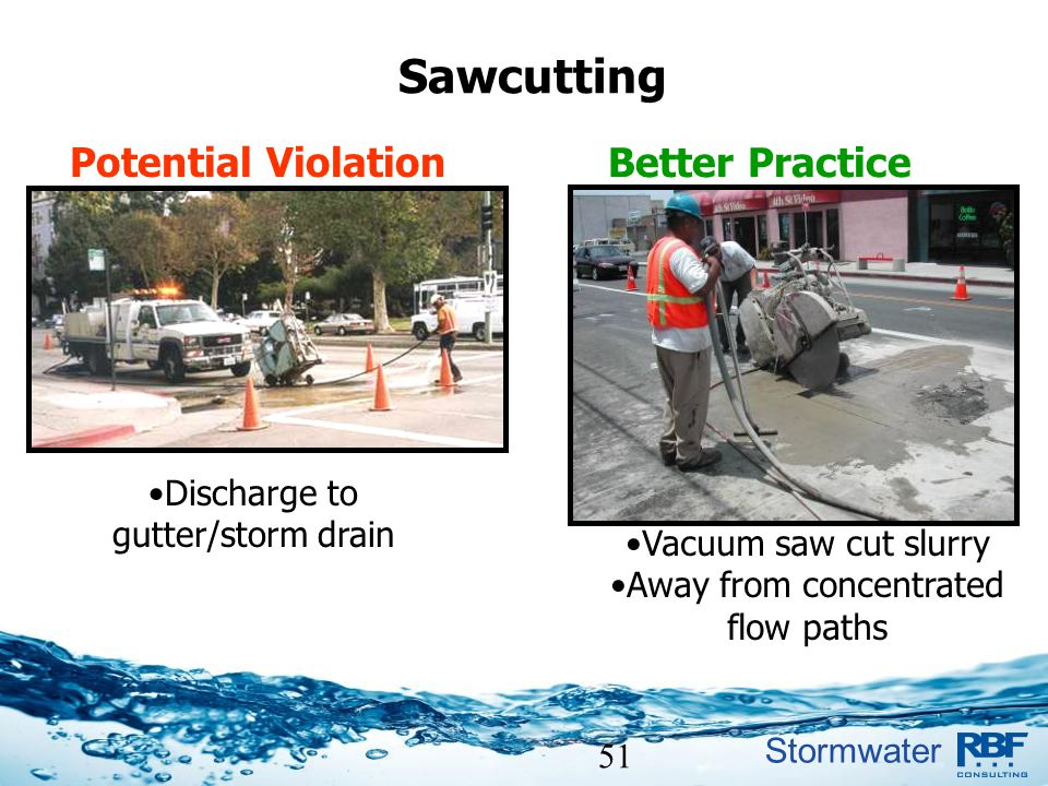 Sawcutting Potential Violation Better Practice