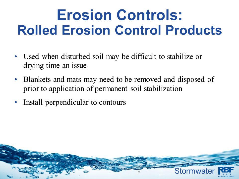 Erosion Controls: Rolled Erosion Control Products