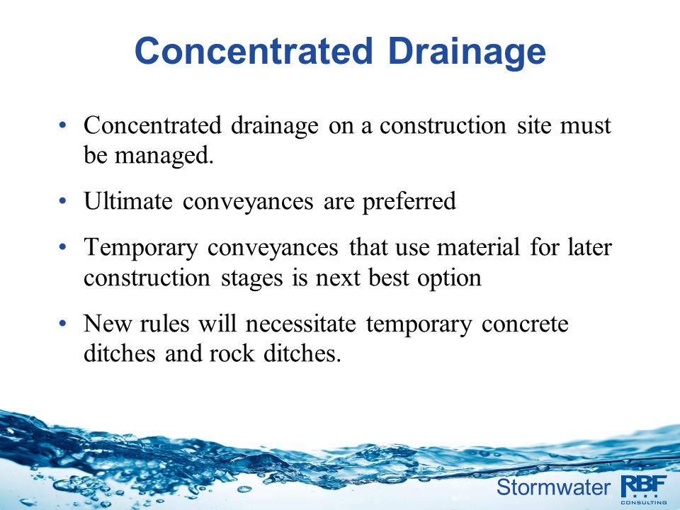 Concentrated Drainage