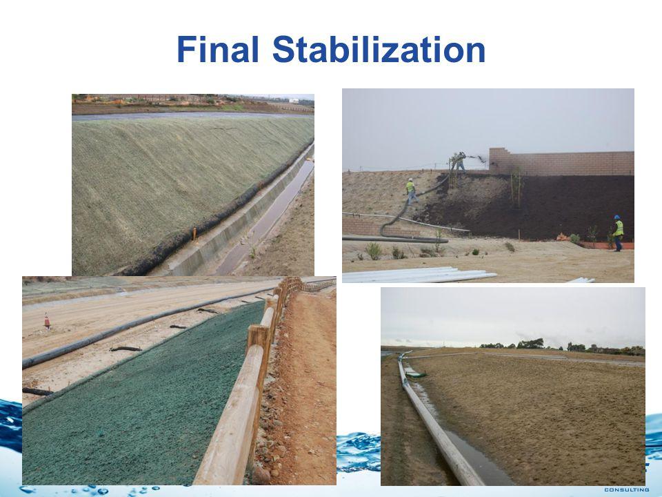 Final Stabilization