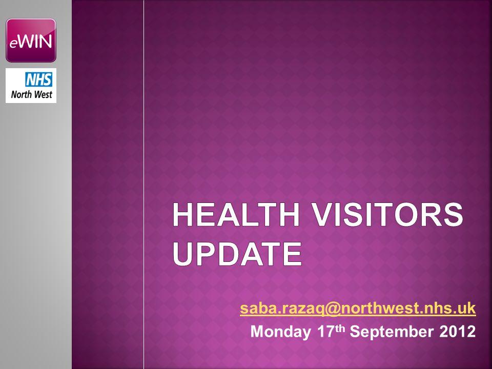 Health Visitors update
