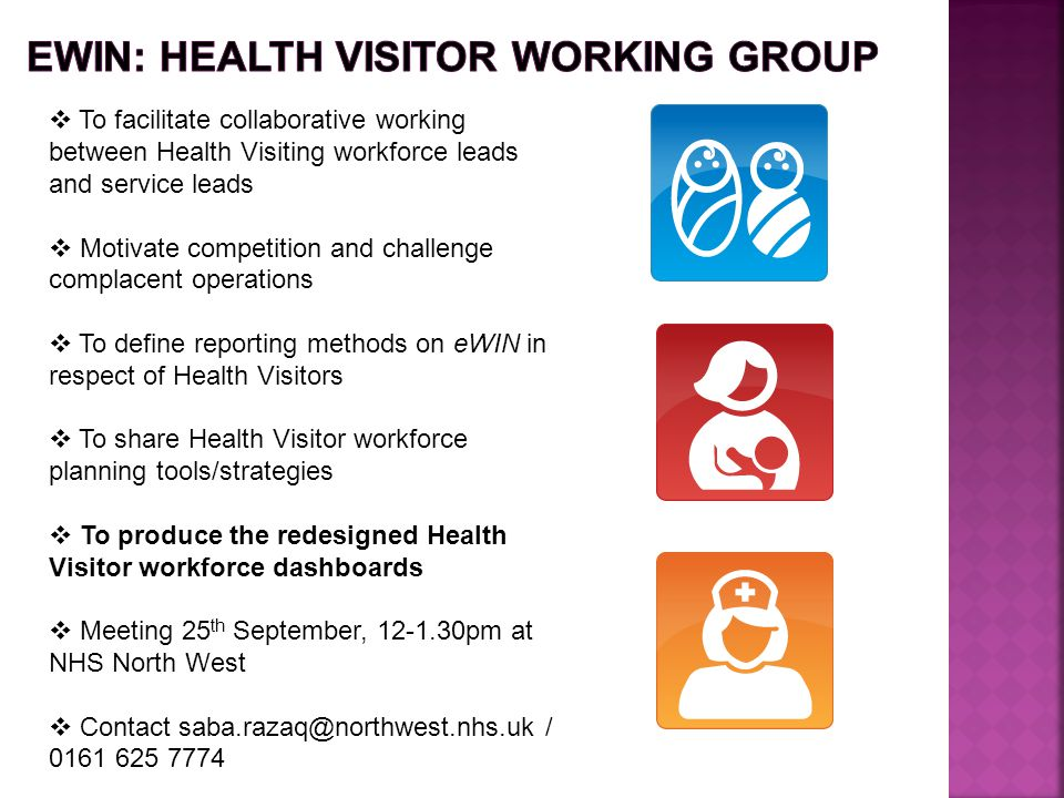 EWIN: HEALTH VISITOR WORKING GROUP