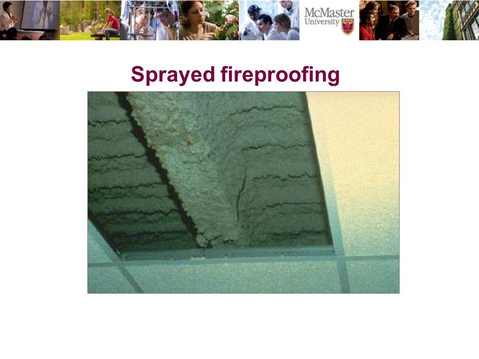 Sprayed fireproofing