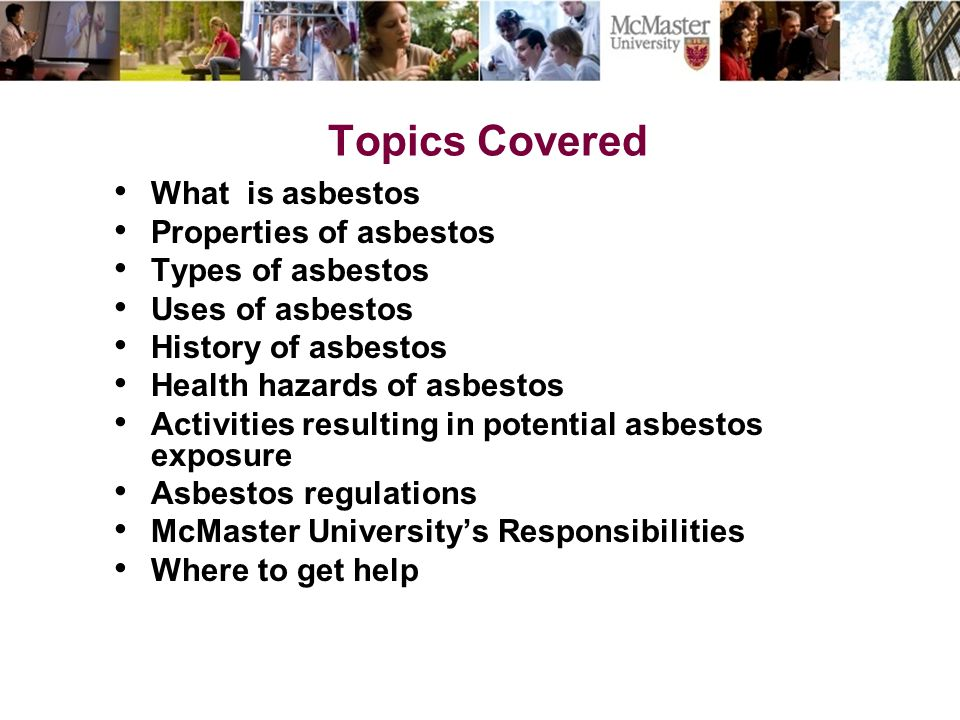 Topics Covered What is asbestos Properties of asbestos