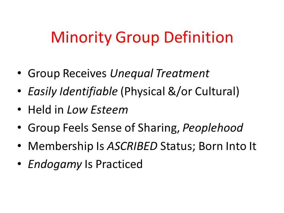 Minority Group Definition