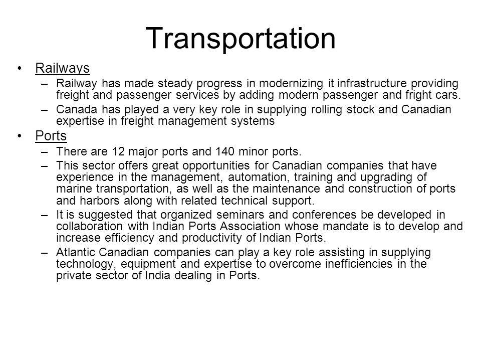 Transportation Railways Ports