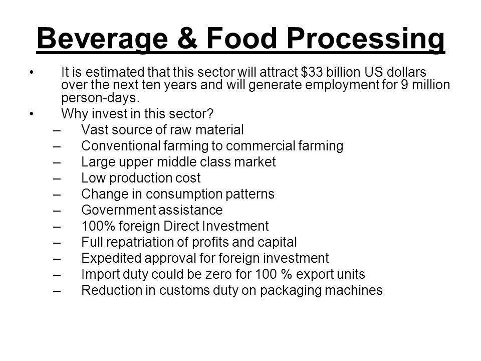 Beverage & Food Processing