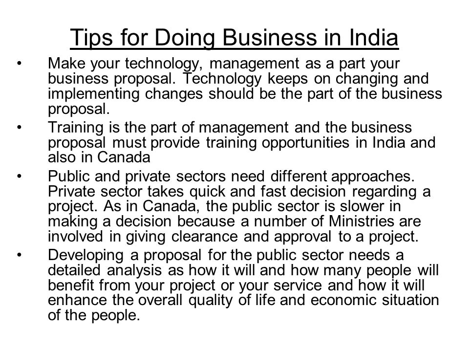 Tips for Doing Business in India