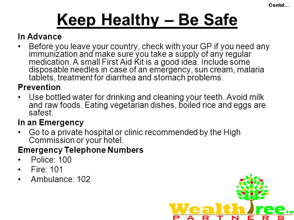 Keep Healthy – Be Safe In Advance