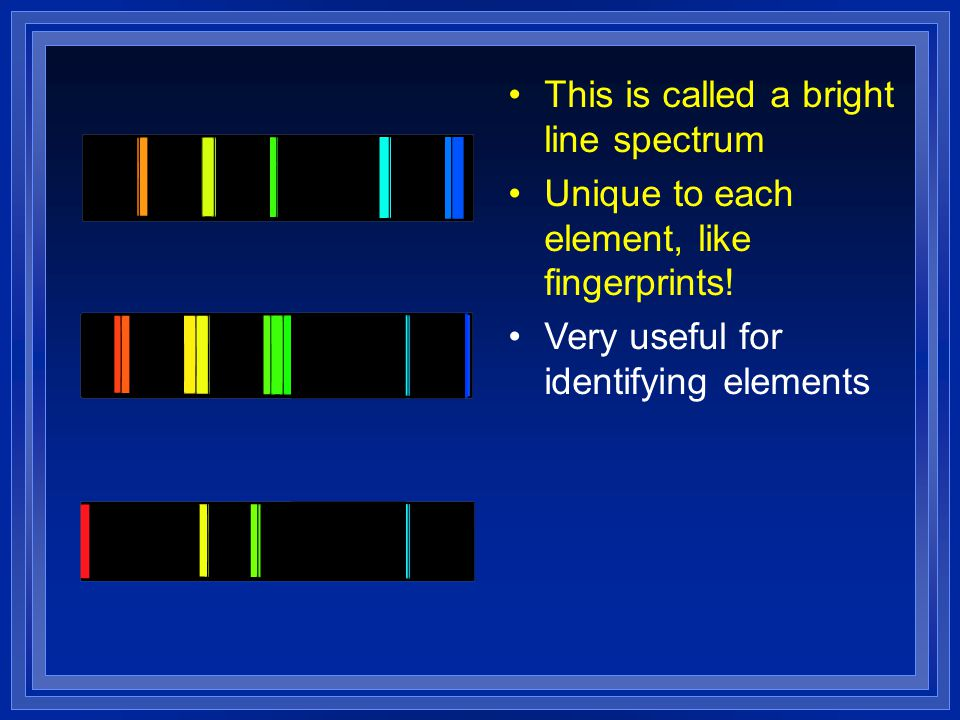 This is called a bright line spectrum