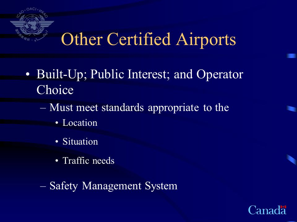 Other Certified Airports