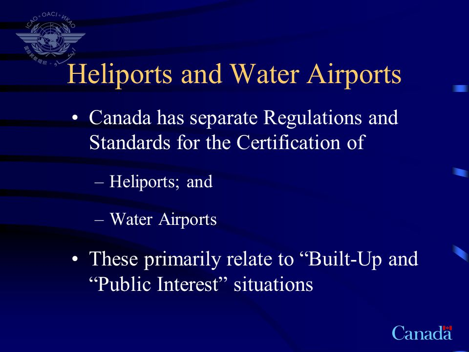 Heliports and Water Airports