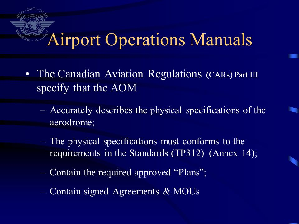 Airport Operations Manuals