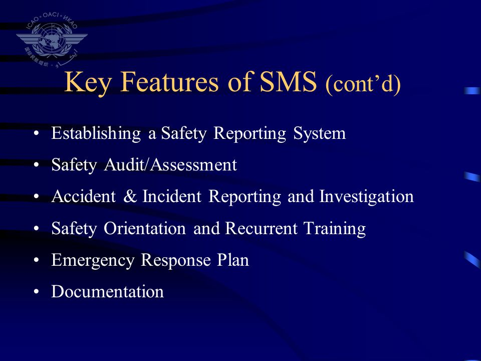 Key Features of SMS (cont'd)