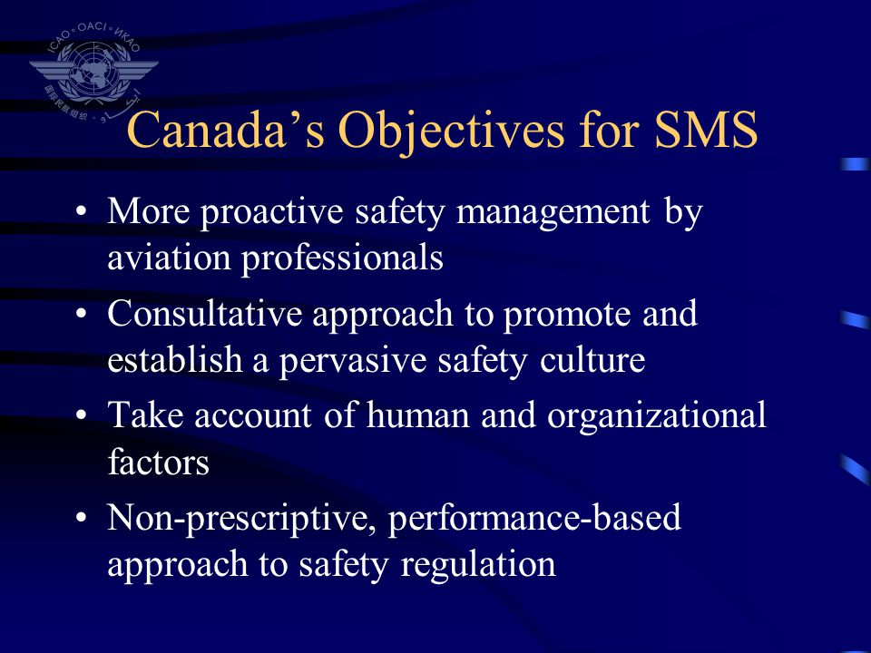 Canada's Objectives for SMS