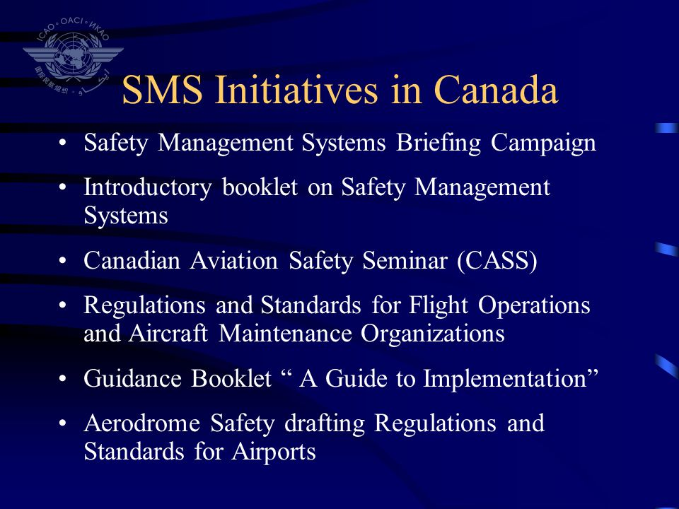 SMS Initiatives in Canada