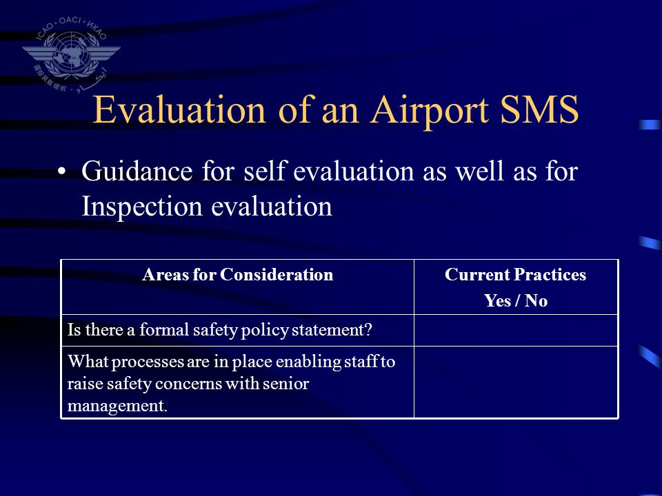 Evaluation of an Airport SMS