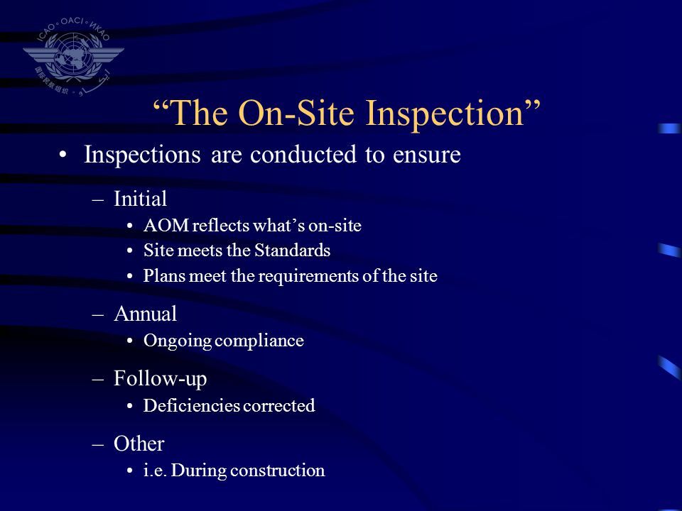 The On-Site Inspection