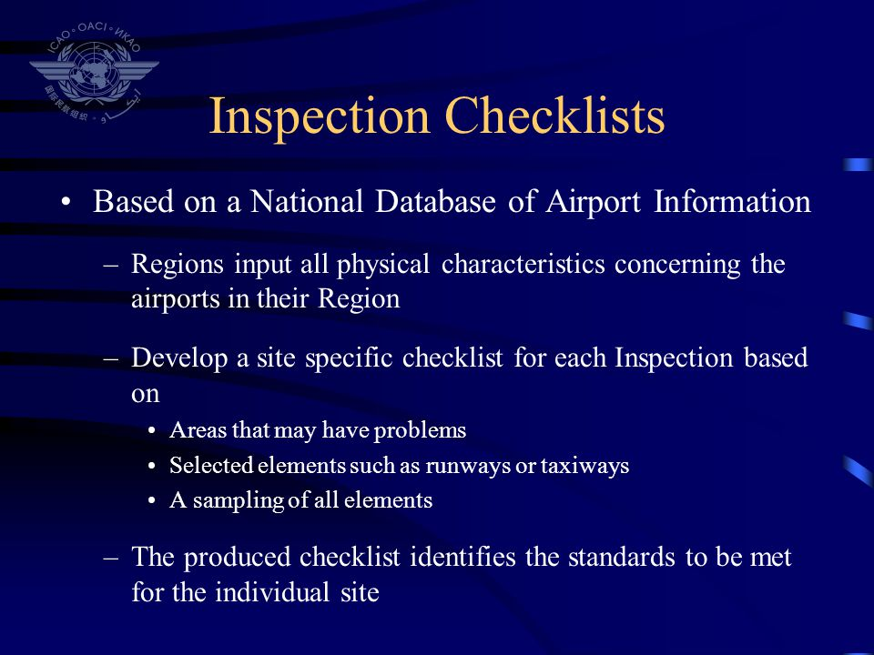 Inspection Checklists