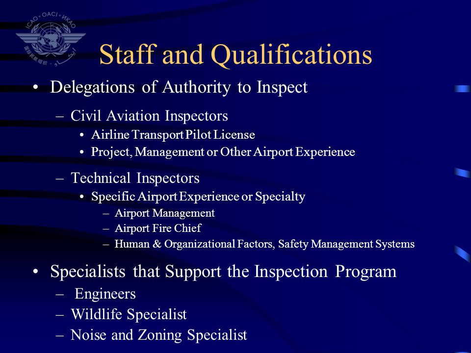 Staff and Qualifications