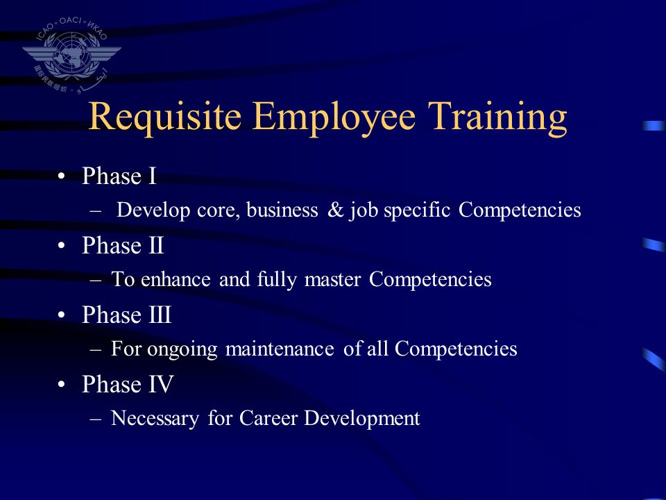 Requisite Employee Training