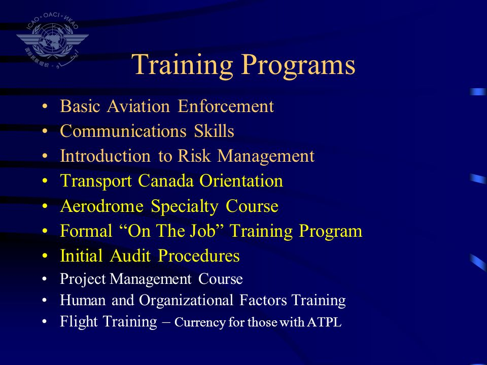 Training Programs Basic Aviation Enforcement Communications Skills