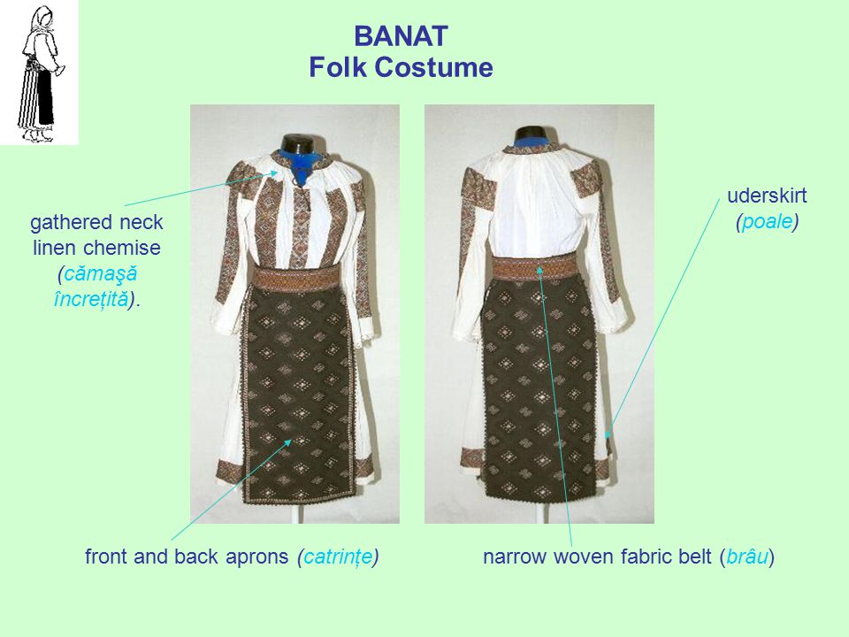 BANAT Folk Costume uderskirt (poale)