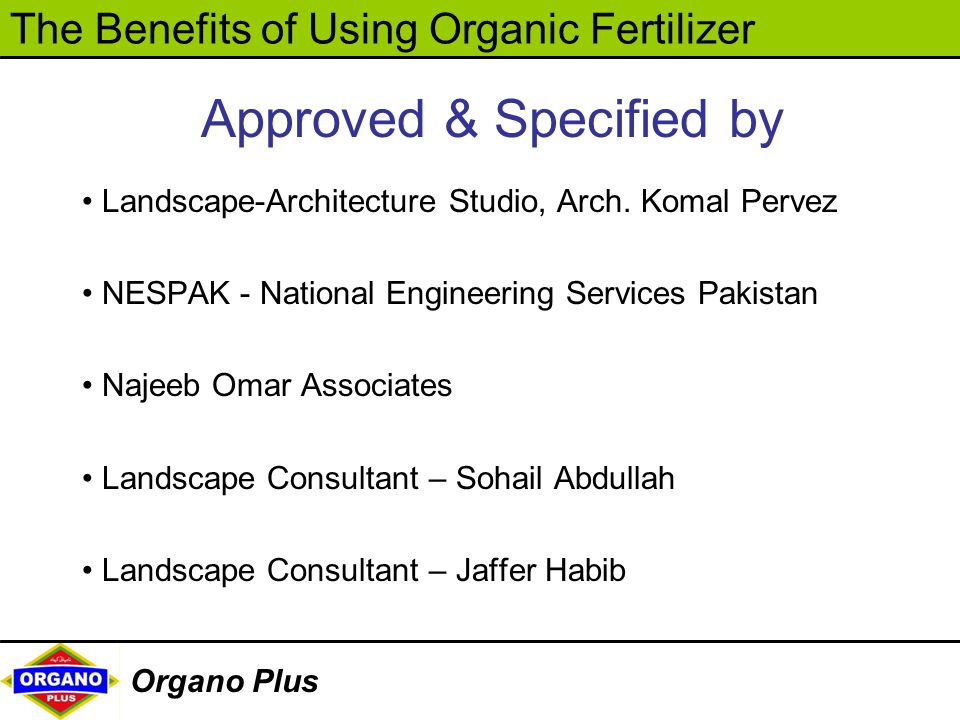 Approved & Specified by