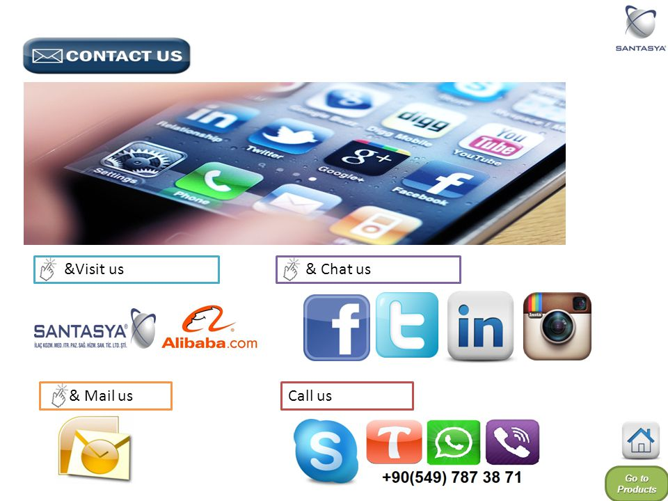 &Visit us & Chat us & Mail us Call us Go to Products