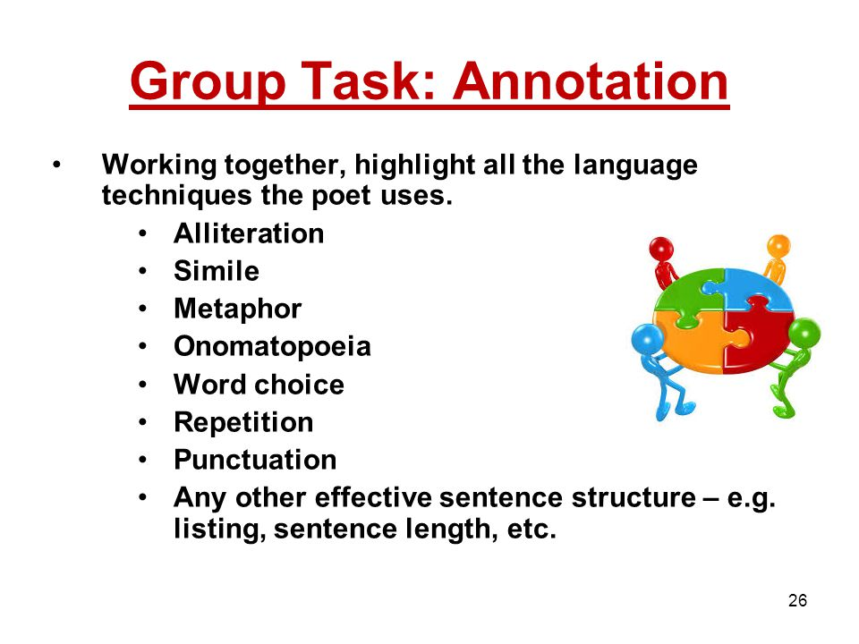 Group Task: Annotation