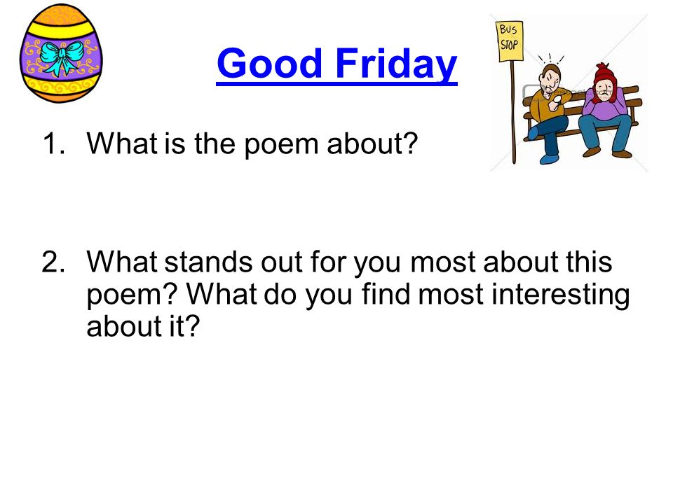 Good Friday What is the poem about