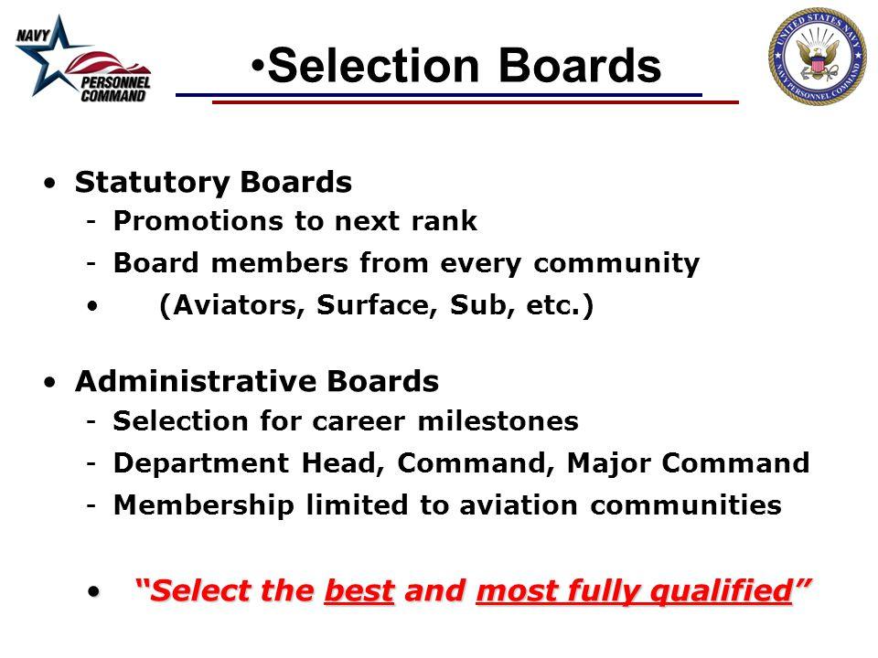 Selection Boards Statutory Boards Administrative Boards