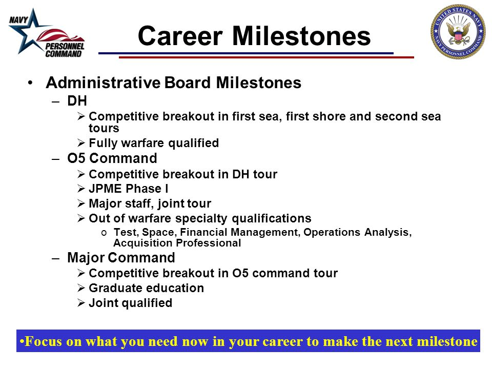 Focus on what you need now in your career to make the next milestone