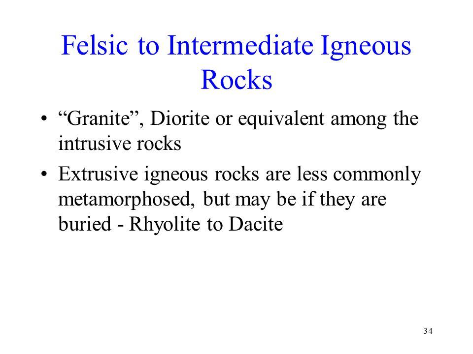 Felsic to Intermediate Igneous Rocks
