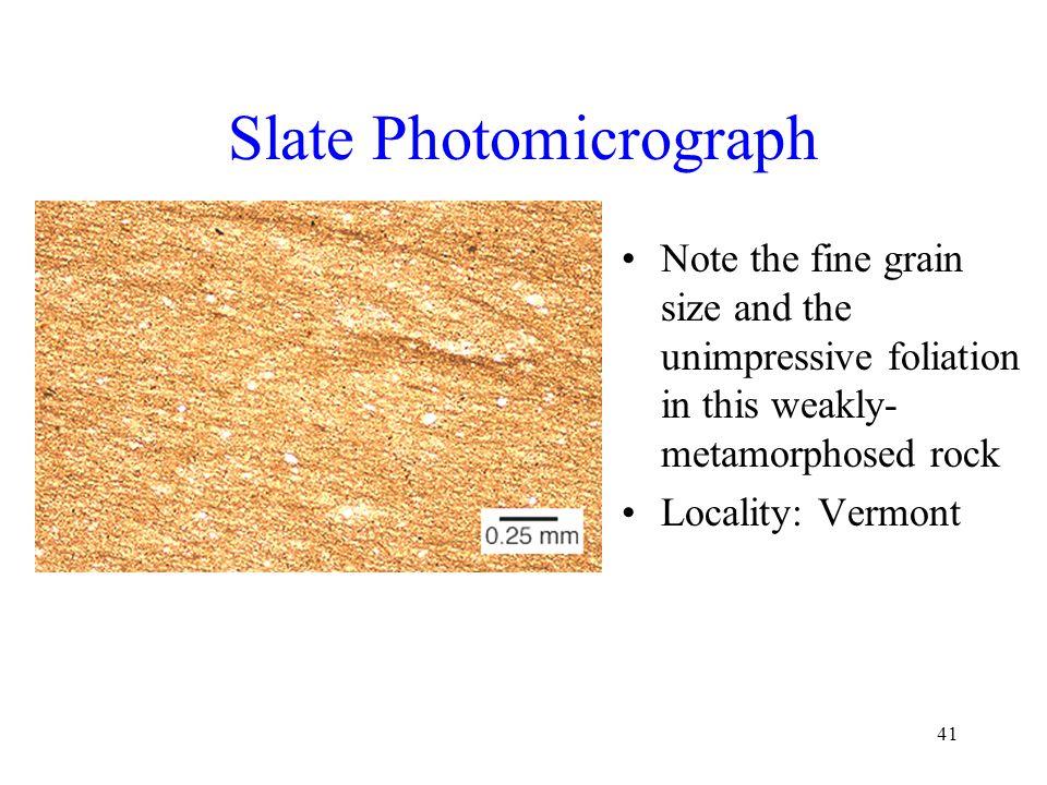 Slate Photomicrograph