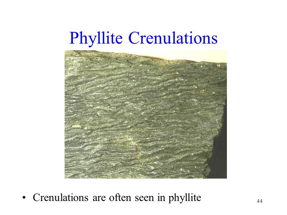 Phyllite Crenulations