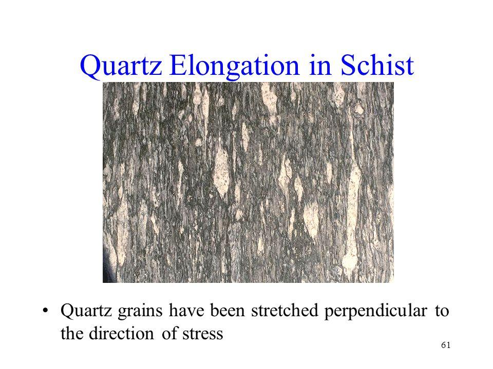 Quartz Elongation in Schist